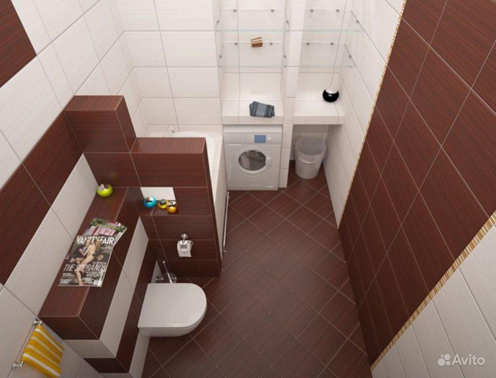 Дизайн ванной комнаты 2 м2