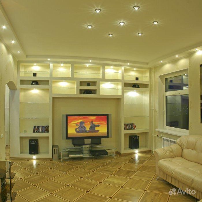 Стены из гипсокартона фото гостиная