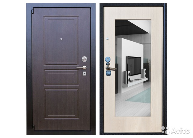 дверь металлическая с противоударными стеклами