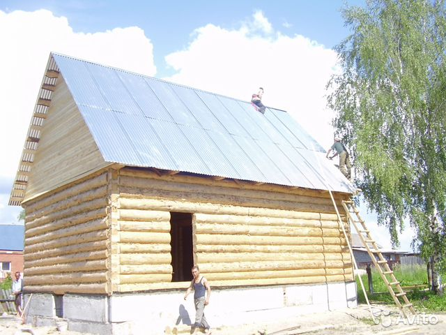 Двухскатная крыша для бани 5 6 м своими руками видео