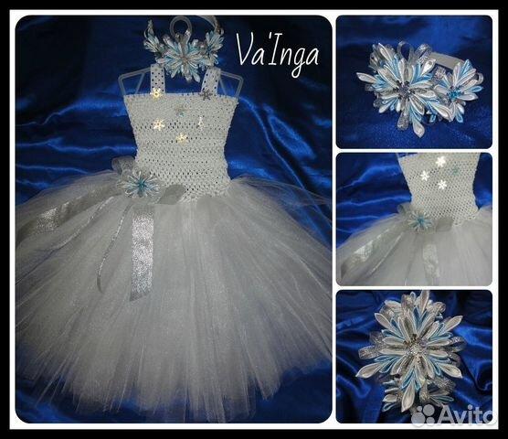 Украшаем платье на новый год для снежинки