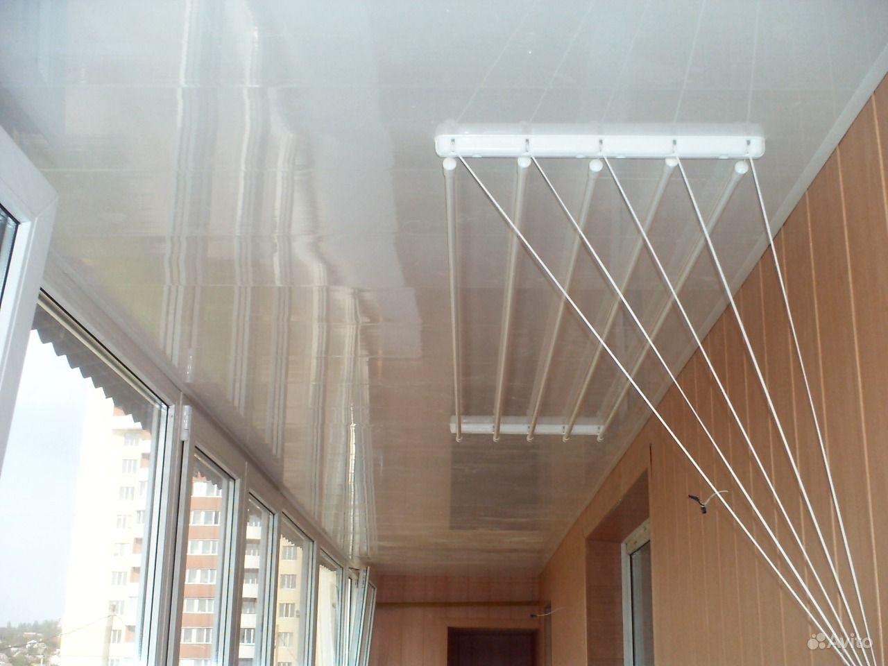 Сушилка для белья на балкон: какие виды на лоджию, подвесные.