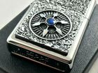 Zippo Viking Celtic Blue Wheel Emblem lighter