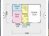 Дача 100 м² на участке 11 сот.