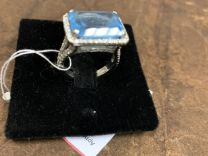 Кольцо топаз и бриллианты