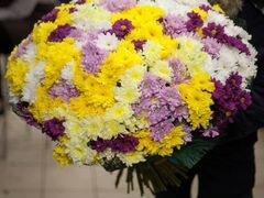 Большой букет из хризантемы