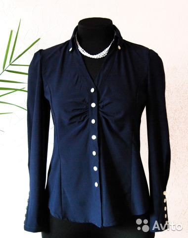 Темно синяя блузка с доставкой