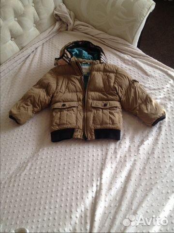 Детский зимний пуховик Burberry (104 см) обмен купить в Москве на ... 7a2e546130e