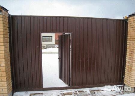 Автоматические ворота встроенная калиткой каталог откатных ворот в краснодаре