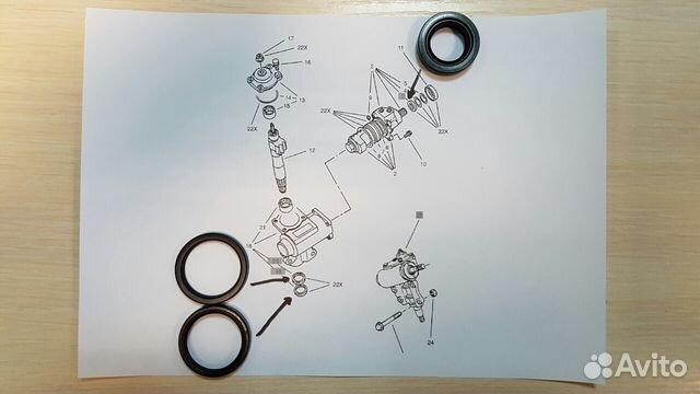 сальник рулевого редуктора опель мантарей
