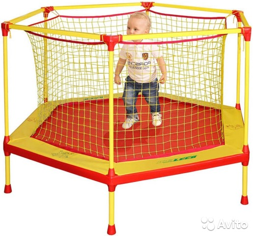 детский батут с сеткой для дома купить в москве