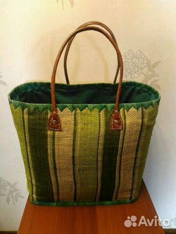 Пляжная сумка(плетеная,соломенная) купить в Москве на Avito ... 5f58eb4744b