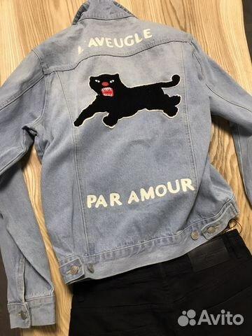 джинсовка Gucci 2018 L Aveugle Par Amour купить в москве на