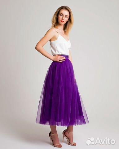 e5816c5a9e3 Фиолетовая юбка пачка из фатина купить в Москве на Avito ...