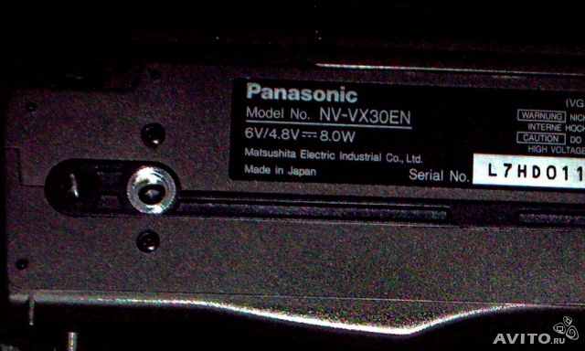 Panasonic vx 30 инструкция