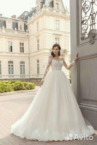 20f761df20e Свадебное платье с длинным рукавом