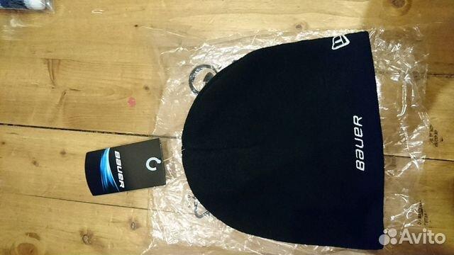 89036020550 Шапка зимняя хоккейная Bauer, черн, нов