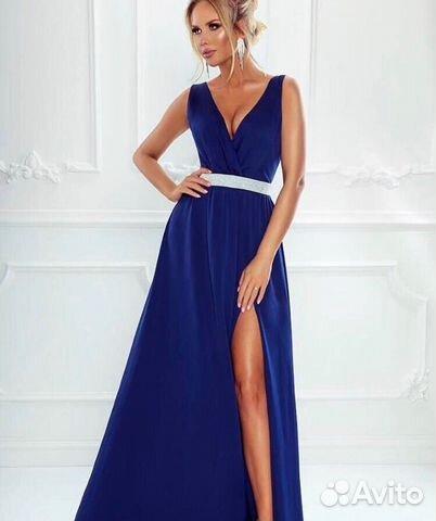 da8e6aa01b7 Платье на выпускной синее купить в Красноярском крае на Avito ...