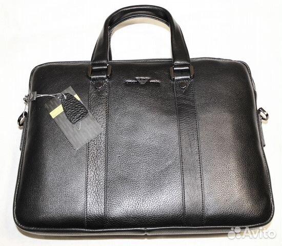 b836a06fbdef Мужская кожаная сумка портфель -G.A.- 2 отдела купить в Москве на ...