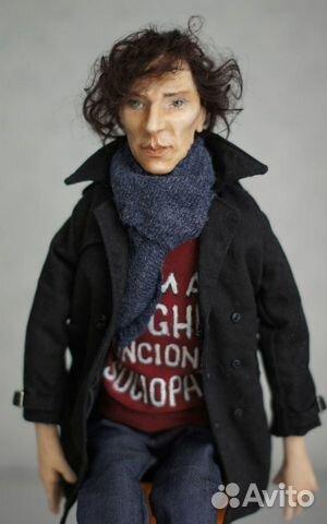 Авторская кукла Шерлок(Бенедикт Камбербэтч) 89236371813 купить 2