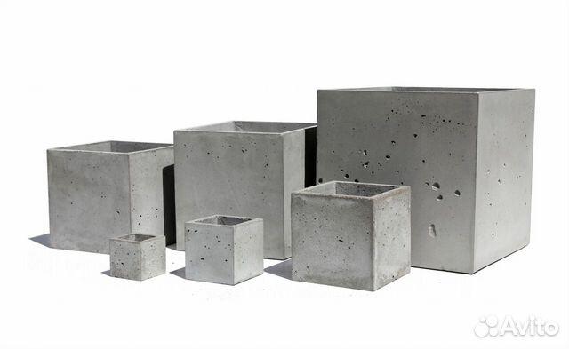 уличное кашпо из бетона купить в москве