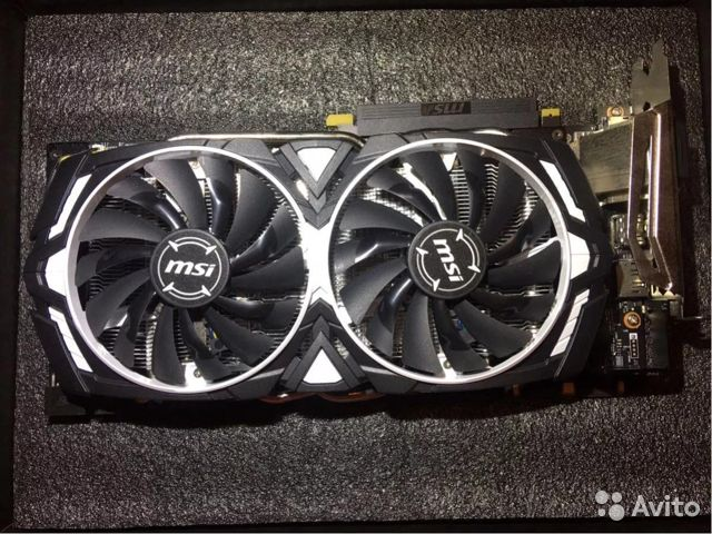 Видеокарта MSI GeForce GTX 1080 Armor 8Gb  89226528605 купить 2