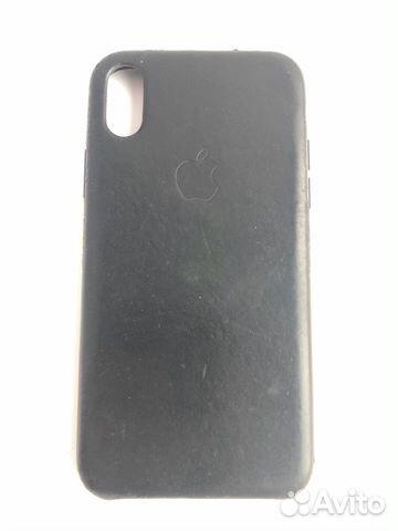 Кожаный чехол для iPhone X, Black. Оригинал 89226777659 купить 1