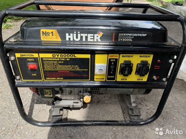 Бензиновый генератор Hunter DY8000L купить 1