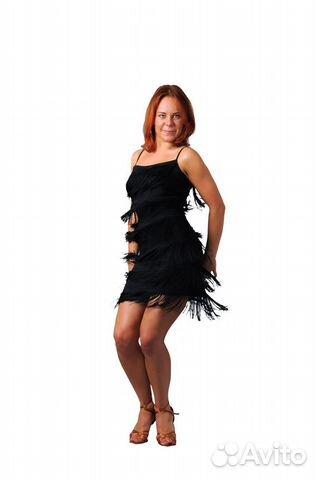 491dc5c2a1e Черное платье в стиле 60х с бахромой ретро Гетсби купить в Москве на ...