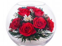 Большой подарок. Цветы в вакууме. Арт. 048