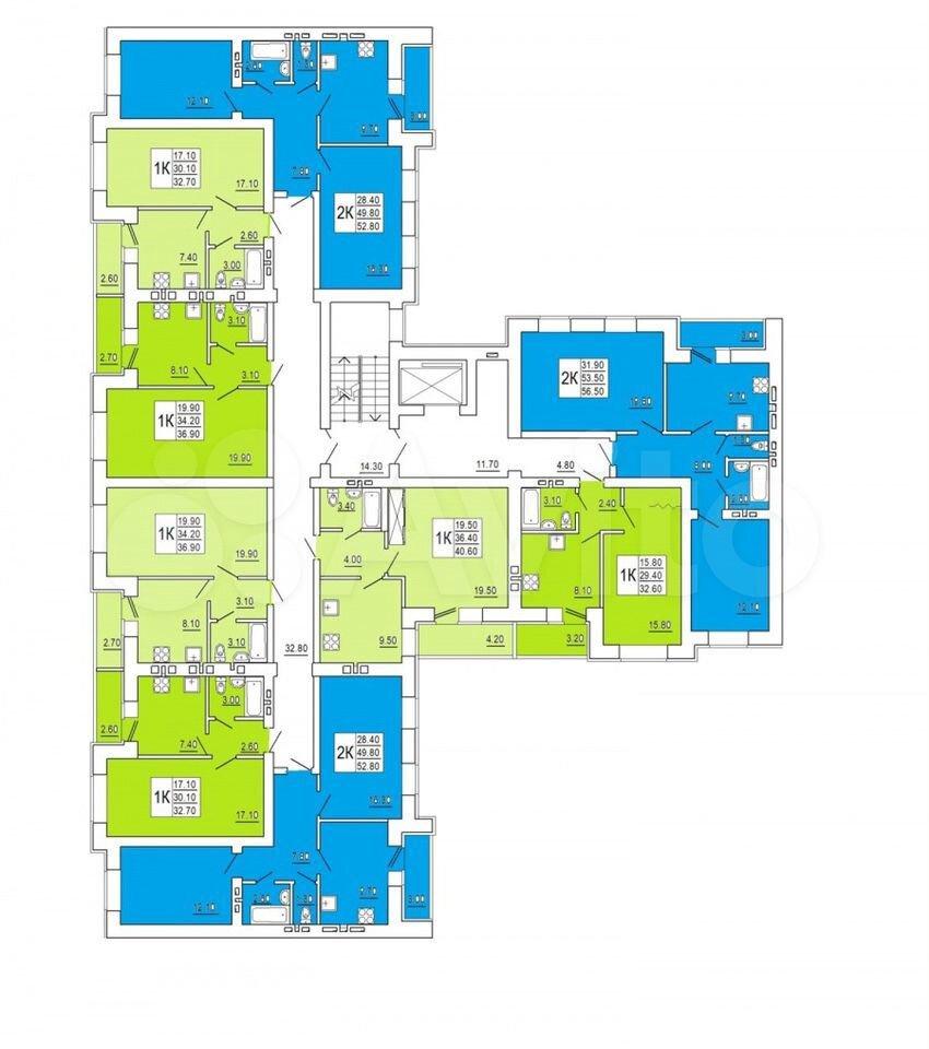 2-к квартира, 55 м², 10/10 эт.  89020452550 купить 2