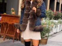 Джинсовая куртка с мехом — Одежда, обувь, аксессуары в Санкт-Петербурге