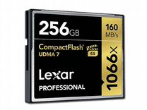 Карта CF Compact Flash Lexar 256 gb (1066x)