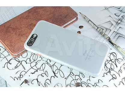 Чехол-накладка для iPhone 7\8 (5.5) metal lens TPU+PC белый