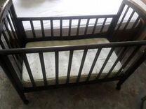 Детская кровать с матрасом