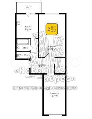 2-к квартира, 64.3 м², 2/10 эт.  89587935438 купить 4