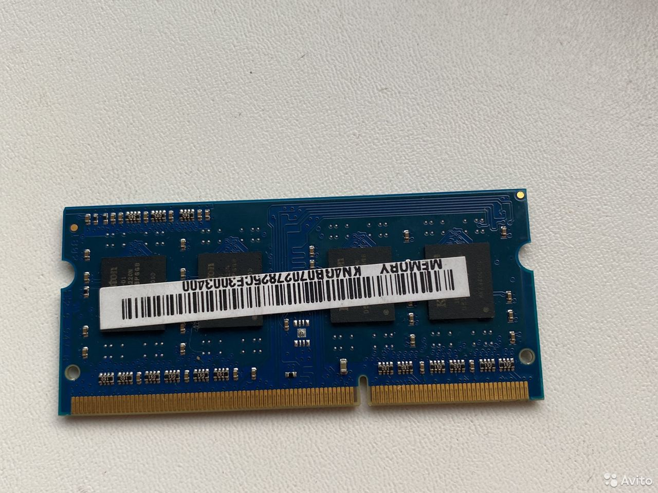 Оперативная память для ноутбука. DDR3 4Gb 1RX8 PC3