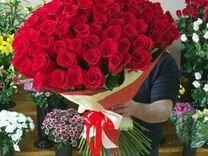 Розы огромный букет из 101 эквадорской розы