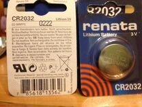 Батарейка renata CR2032 3V оригинал