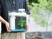 Аквариум Xiaomi c фильтрацией воды и увлажнителем