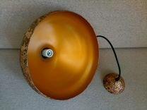 Светильник подвесной дизайнерский золотой 3 штуки