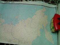 Карта железных дорог СССР 1975 года