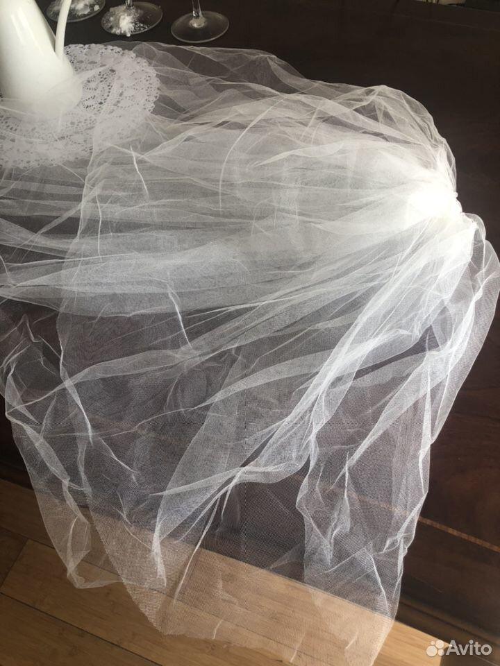 Свадебная фата в пол трехслойная  89818224760 купить 4