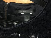 Платье чёрное, для нового года, фирмы Mango